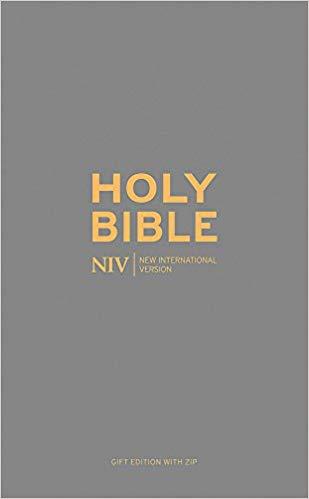 NIV Pocket Charcoal Soft-Tone Bible with Zip